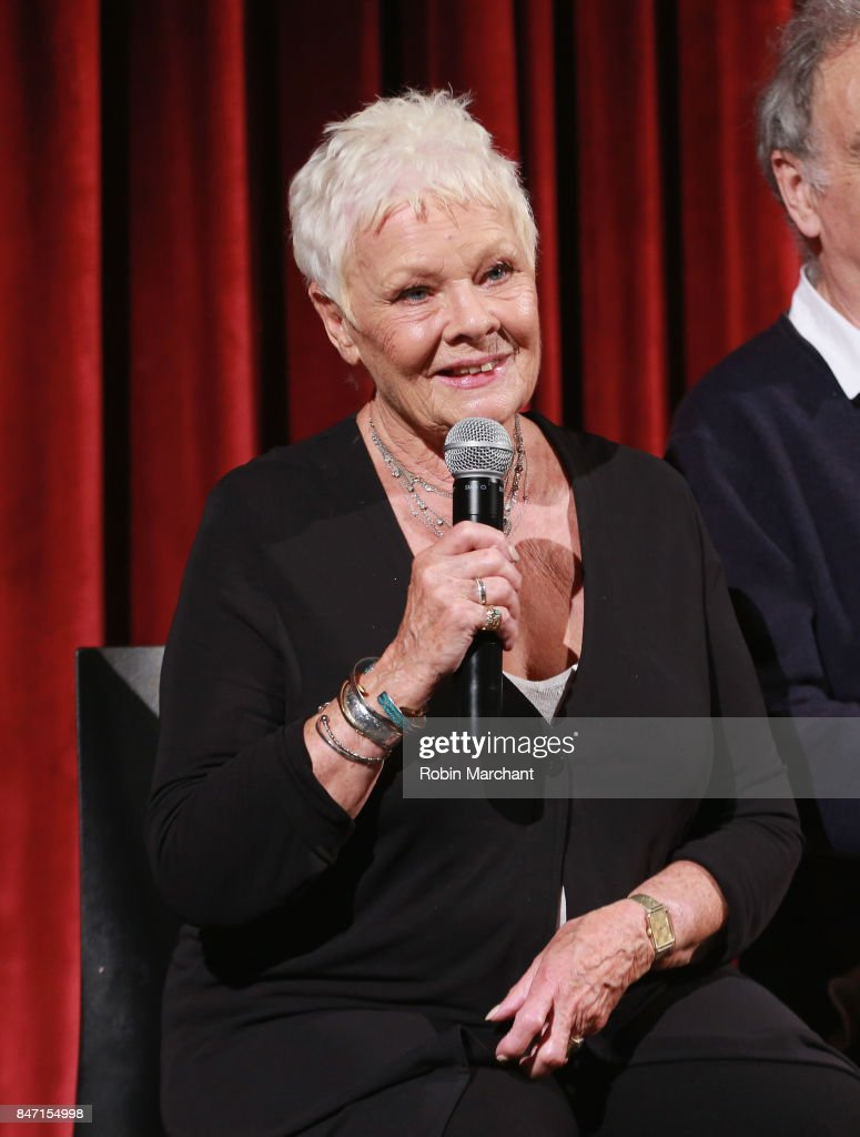 Actor Dame Judi Dench attends an Official Academy Screening of VICTORIA & ABDUL hosted by The Academy of Motion Picture Arts & Sciences at MOMA - Celeste Bartos Theater on September 14, 2017 in New York City.