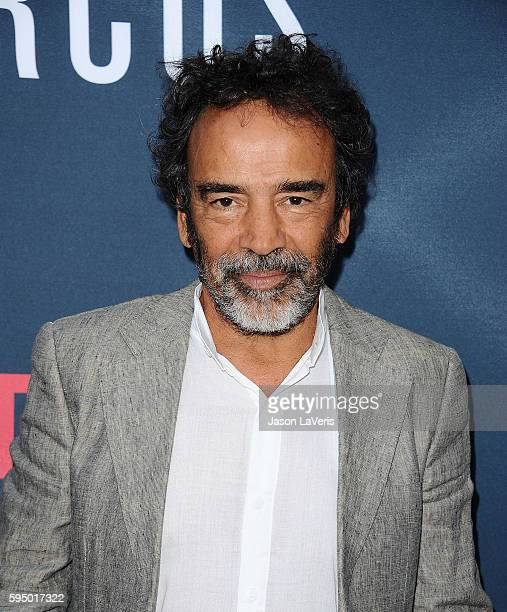 Actor Damian Alcazar attends the season 2 premiere of 'Narcos' at ArcLight Cinemas on August 24 2016 in Hollywood California