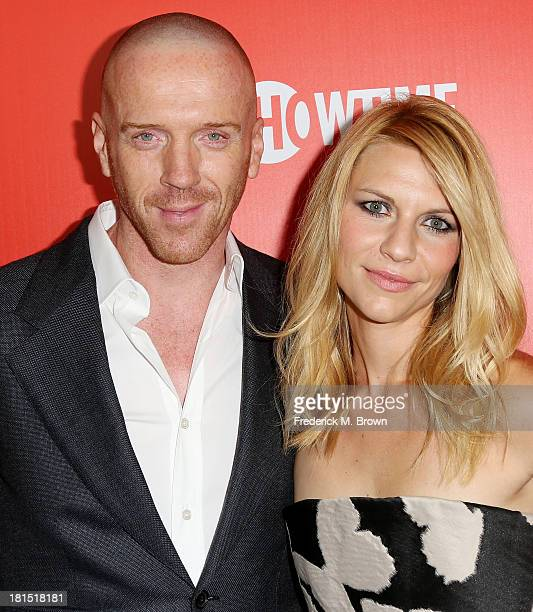 Actor Damian Lewis and actress Claire Danes attend Showtime 2013 EMMY Eve Soiree at the Sunset Tower Hotel on September 21 2013 in West Hollywood...