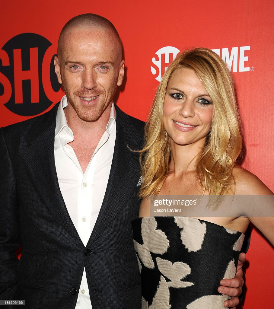 Actor Damian Lewis and actress Claire Danes attend the Showtime Emmy eve soiree at Sunset Tower on September 21 2013 in West Hollywood California