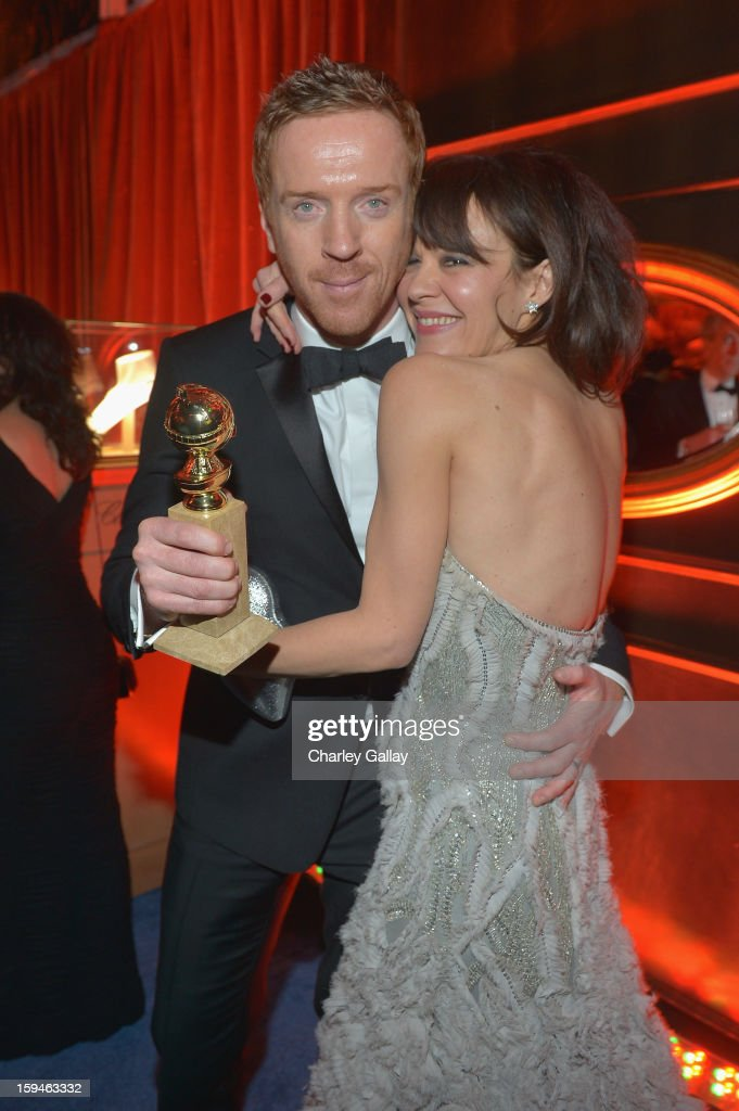 Actor <a gi-track='captionPersonalityLinkClicked' href=/galleries/search?phrase=Damian+Lewis&family=editorial&specificpeople=206939 ng-click='$event.stopPropagation()'>Damian Lewis</a> and <a gi-track='captionPersonalityLinkClicked' href=/galleries/search?phrase=Helen+McCrory&family=editorial&specificpeople=214616 ng-click='$event.stopPropagation()'>Helen McCrory</a> attend The Weinstein Company's 2013 Golden Globe Awards After Party presented by Chopard held at The Old Trader Vic's at The Beverly Hilton Hotel on January 13, 2013 in Beverly Hills, California.