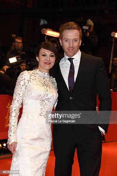 Actor Damian Lewis and his wife Helen McCrory attend the 'Queen of the Desert' premiere during the 65th Berlinale International Film Festival at...