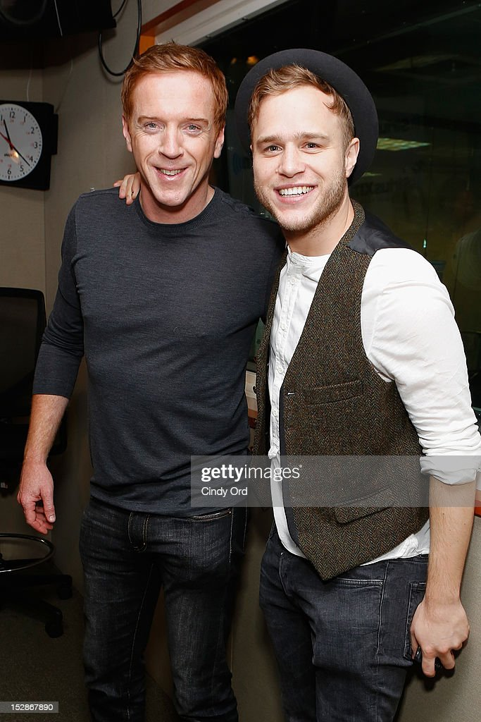 Actor Damian Lewis and singer Olly Murs visit the SiriusXM Studio on September 27, 2012 in New York City.