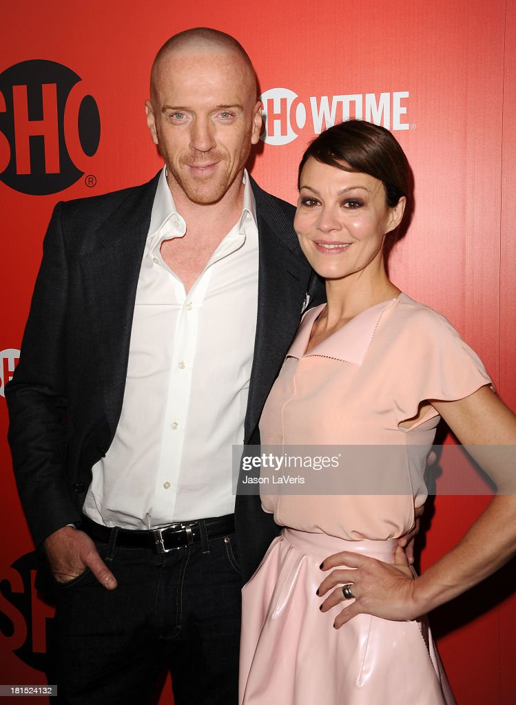 Actor <a gi-track='captionPersonalityLinkClicked' href=/galleries/search?phrase=Damian+Lewis&family=editorial&specificpeople=206939 ng-click='$event.stopPropagation()'>Damian Lewis</a> and wife <a gi-track='captionPersonalityLinkClicked' href=/galleries/search?phrase=Helen+McCrory&family=editorial&specificpeople=214616 ng-click='$event.stopPropagation()'>Helen McCrory</a> attend the Showtime Emmy eve soiree at Sunset Tower on September 21, 2013 in West Hollywood, California.