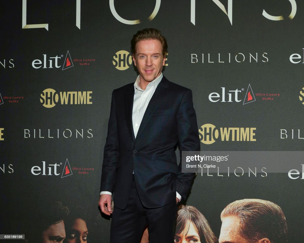 Actor Damian Lewis attends Showtime's 'Billions' Season 2 premiere held at Cipriani 25 Broadway on February 13, 2017 in New York City.