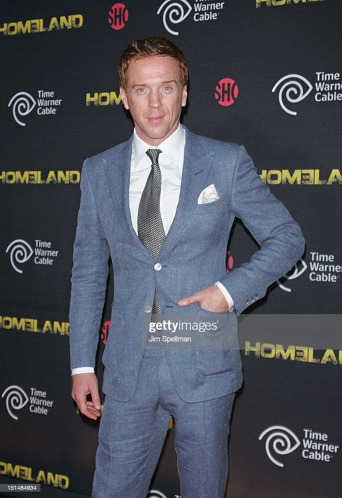 Actor Damian Lewis attends the Season 2 premiere of 'Homeland' hosted by Time Warner Cable Showtime at Intrepid SeaAirSpace Museum on September 7...