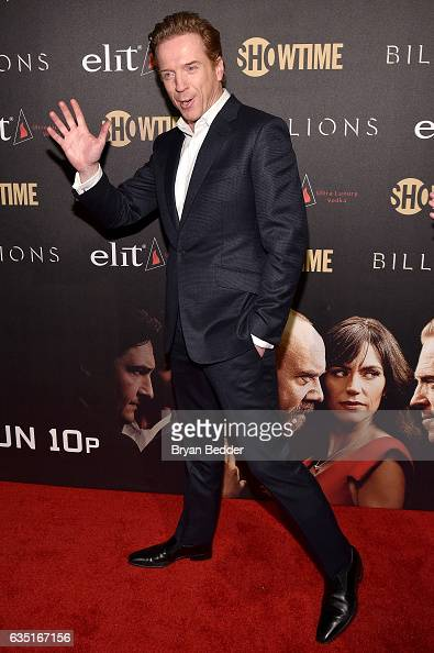 Actor Damian Lewis attends the Showtime and Elit Vodka hosted BILLIONS Season 2 premiere and party held at Cipriani's in New York City on February 13...