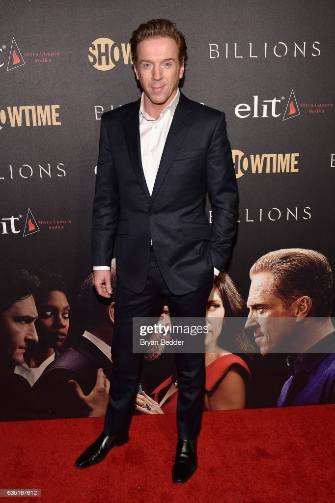 Actor Damian Lewis attends the Showtime and Elit Vodka hosted BILLIONS Season 2 premiere and party, held at Cipriani's in New York City on February 13, 2017 on February 13, 2017 in New York City.