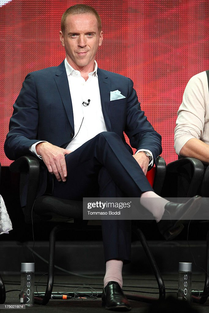 Actor <a gi-track='captionPersonalityLinkClicked' href=/galleries/search?phrase=Damian+Lewis&family=editorial&specificpeople=206939 ng-click='$event.stopPropagation()'>Damian Lewis</a> of the TV show 'Homeland' attends the Television Critic Association's Summer Press Tour - CBS/CW/Showtime panels held at The Beverly Hilton Hotel on July 29, 2013 in Beverly Hills, California.
