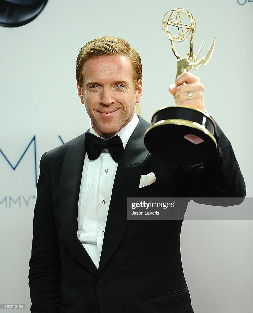 Actor <a gi-track='captionPersonalityLinkClicked' href=/galleries/search?phrase=Damian+Lewis&family=editorial&specificpeople=206939 ng-click='$event.stopPropagation()'>Damian Lewis</a> poses in the press room at the 64th Primetime Emmy Awards at Nokia Theatre L.A. Live on September 23, 2012 in Los Angeles, California.
