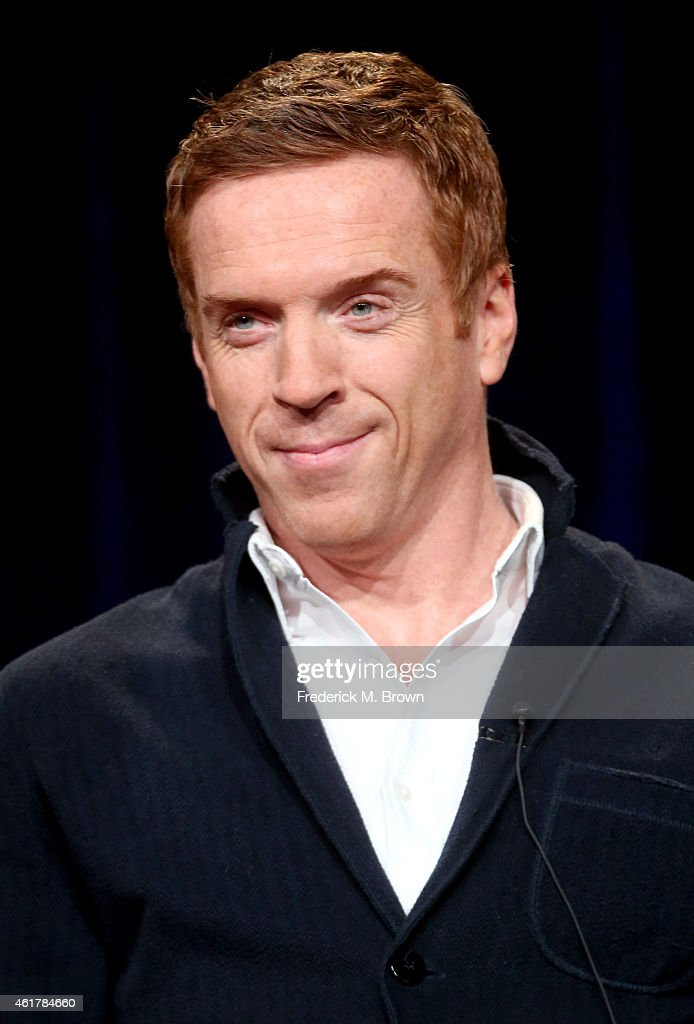 """Actor Damian Lewis speaks onstage during the 'MASTERPIECE """"Wolf Hall""""' panel discussion at the PBS Network portion of the Television Critics Association press tour at Langham Hotel on January 19, 2015 in Pasadena, California."""