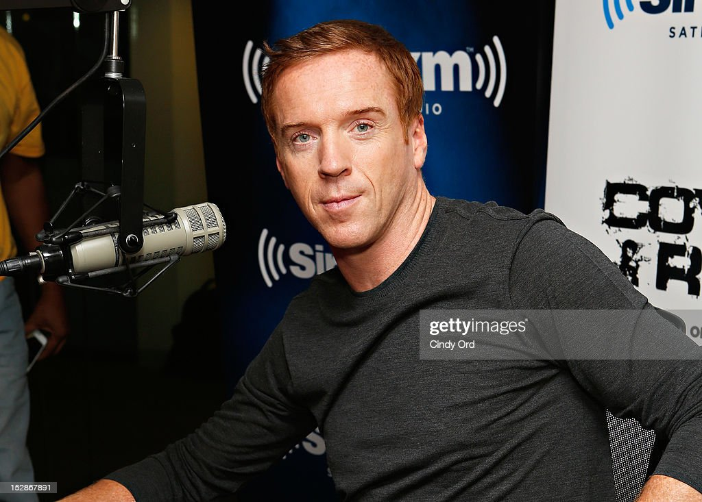 Actor Damian Lewis visits the SiriusXM Studio on September 27, 2012 in New York City.