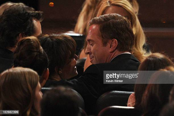 Actor Damian Lewis wins Outstanding Lead Actor in a Drama Series award for 'Homeland' during the 64th Annual Primetime Emmy Awards at Nokia Theatre...