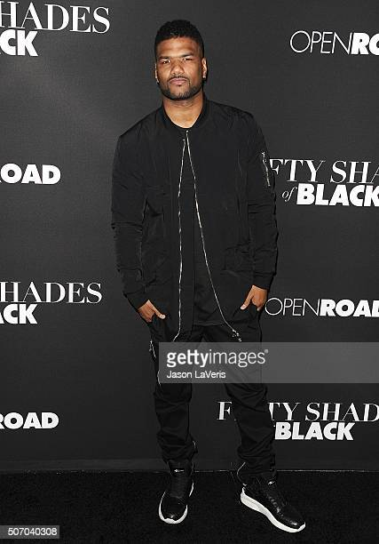 Actor Damien Dante Wayans attends the premiere of 'Fifty Shades of Black' at Regal Cinemas LA Live on January 26 2016 in Los Angeles California