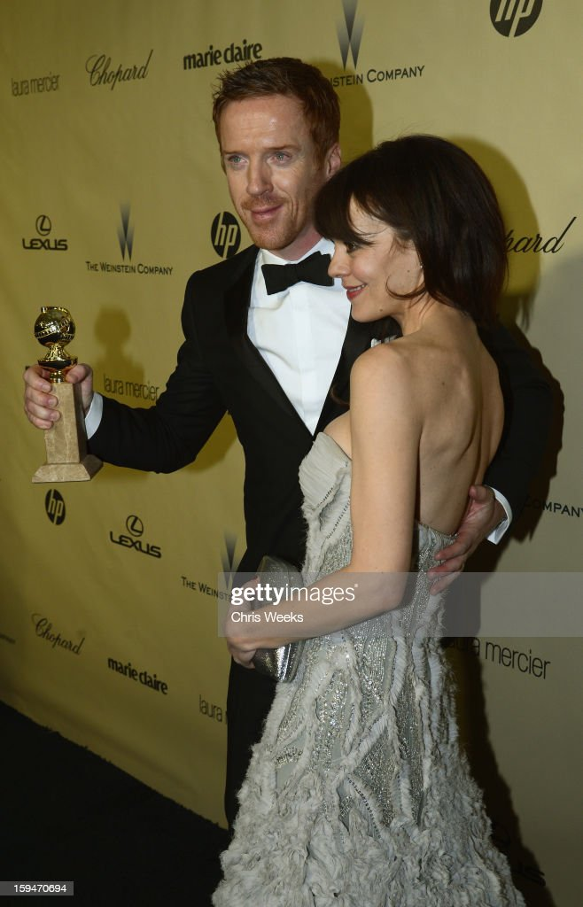 Actor Damien Lewis (L) and Helen McCrory attend The Weinstein Company's 2013 Golden Globe Awards after party presented by Chopard, HP, Laura Mercier, Lexus, Marie Claire, and Yucaipa Films held at The Old Trader Vic's at The Beverly Hilton Hotel on January 13, 2013 in Beverly Hills, California.