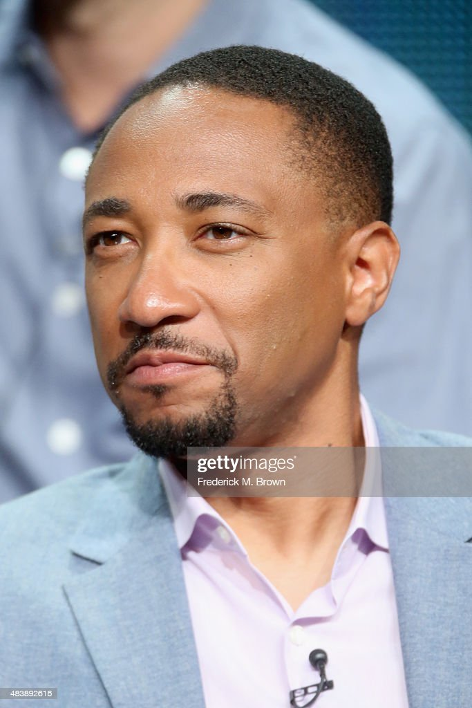 Actor Damon Gupton speaks onstage during NBC's 'The Player' panel discussion at the NBCUniversal portion of the 2015 Summer TCA Tour at The Beverly Hilton Hotel on August 13, 2015 in Beverly Hills, California.