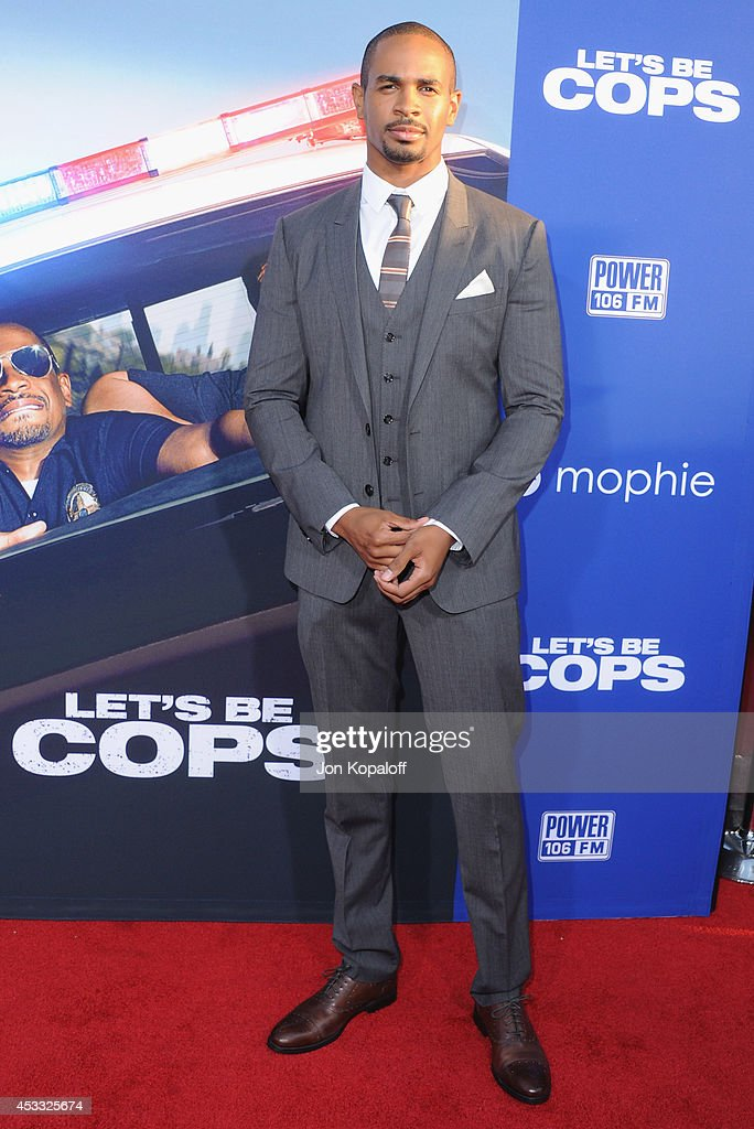 Actor Damon Wayans Jr. arrives at the Los Angeles Premiere 'Let's Be Cops' at ArcLight Hollywood on August 7, 2014 in Hollywood, California.