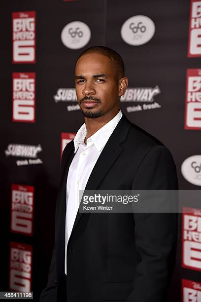 Actor Damon Wayans Jr attends the premiere of Disney's 'Big Hero 6' at the El Capitan Theatre on November 4 2014 in Hollywood California