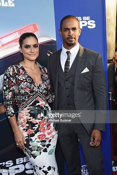 Actor Damon Wayns Jr and Samara Saraiva arrive at the premiere of Twentieth Century Fox's 'Let's Be Cops' at ArcLight Hollywood on August 7 2014 in...