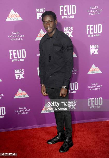 Actor Damson Idris arrives for the Premiere Of FX Network's 'Feud Bette And Joan' held at Grauman's Chinese Theatre on March 1 2017 in Hollywood...