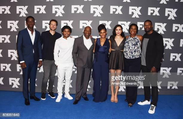 Actor Damson Idris executive producer Dave Andron actor Isaiah John executive producer John Singleton and actors Angela Lewis Emily Rios Michael...