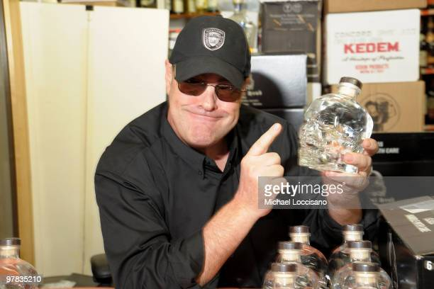 Actor Dan Akroyd promotes his Crystal Head Vodka at Park Avenue Liquor Shop on March 18 2010 in New York City