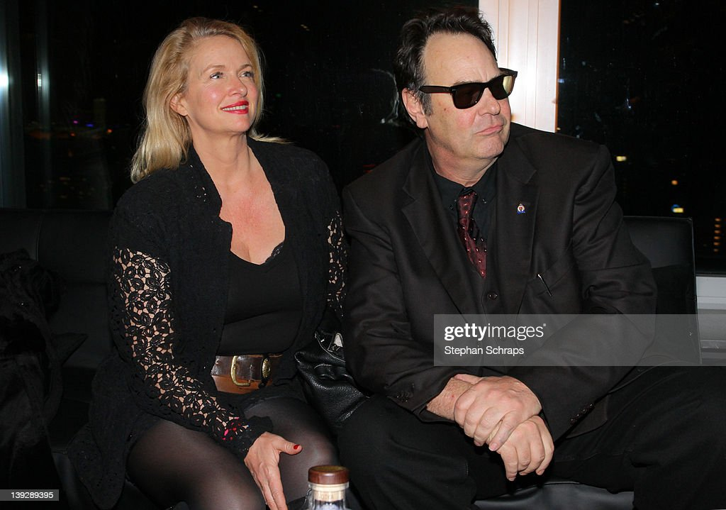 Actor Dan Aykroyd and wife Donna Dixon celebrating the launch of his 'Crystal Head Vodka' in the 'Puro Sky Lounge', Europacenter, February 18, 2012 in Berlin, Germany.