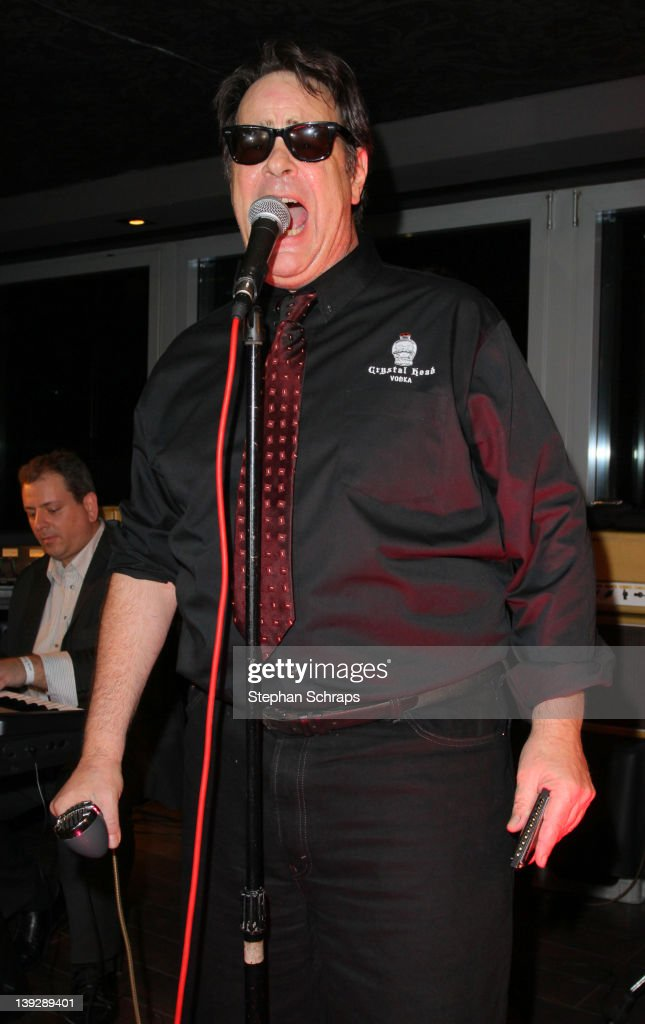 Actor <a gi-track='captionPersonalityLinkClicked' href=/galleries/search?phrase=Dan+Aykroyd&family=editorial&specificpeople=206819 ng-click='$event.stopPropagation()'>Dan Aykroyd</a> performing, singing the Blues, in the 'Puro Sky Lounge', Europacenter, during the party of the launch of his 'Crystal Head Vodka' on February 18, 2012 in Berlin, Germany.