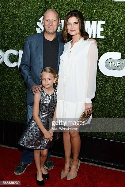 Actor Dan Bakkedahl actresses Giselle Eisenberg and Betsy Brandt arrive at the CBS CW Showtime Summer TCA Party at Pacific Design Center on August 10...