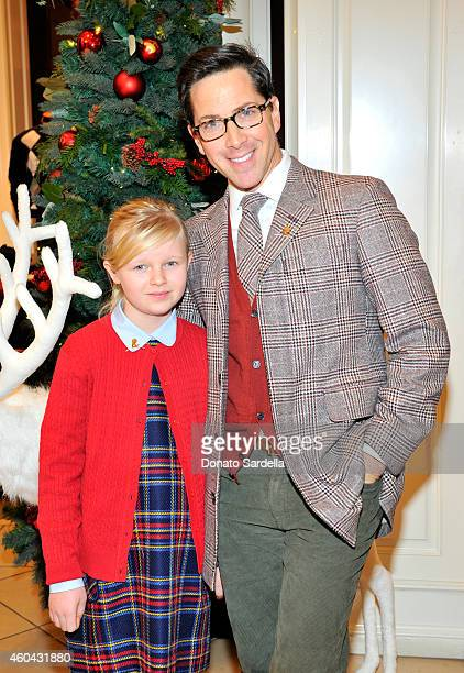 Actor Dan Bucatinsky and his daughter Eliza attend as Brooks Brothers celebrates the holidays with St Jude Children's Research Hospital and Town...