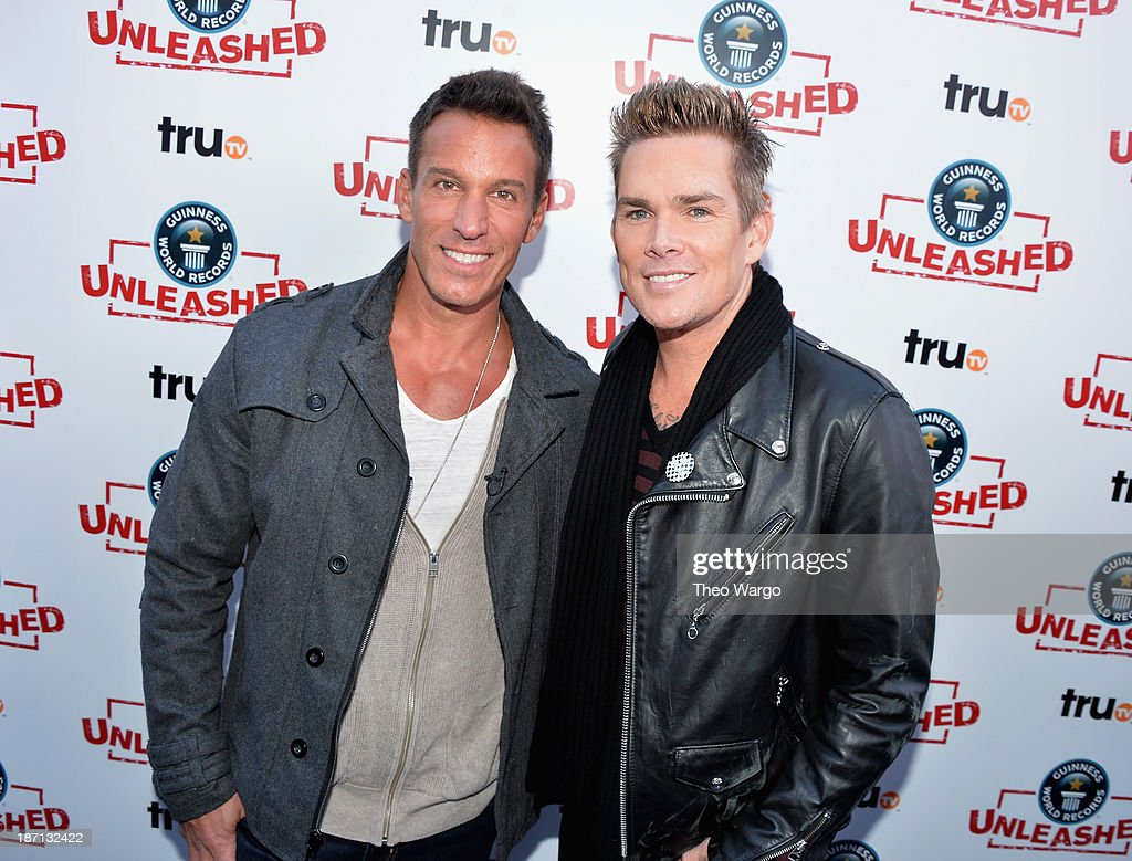 Actor <a gi-track='captionPersonalityLinkClicked' href=/galleries/search?phrase=Dan+Cortese&family=editorial&specificpeople=754844 ng-click='$event.stopPropagation()'>Dan Cortese</a> (L) and TV personality <a gi-track='captionPersonalityLinkClicked' href=/galleries/search?phrase=Mark+McGrath+-+Singer&family=editorial&specificpeople=171653 ng-click='$event.stopPropagation()'>Mark McGrath</a> pose at the Guinness World Records Unleashed Arena in Times Square on November 6, 2013 in New York City. (Photo by Theo Wargo/WireImage) 24244_003_TW_0161.jpg