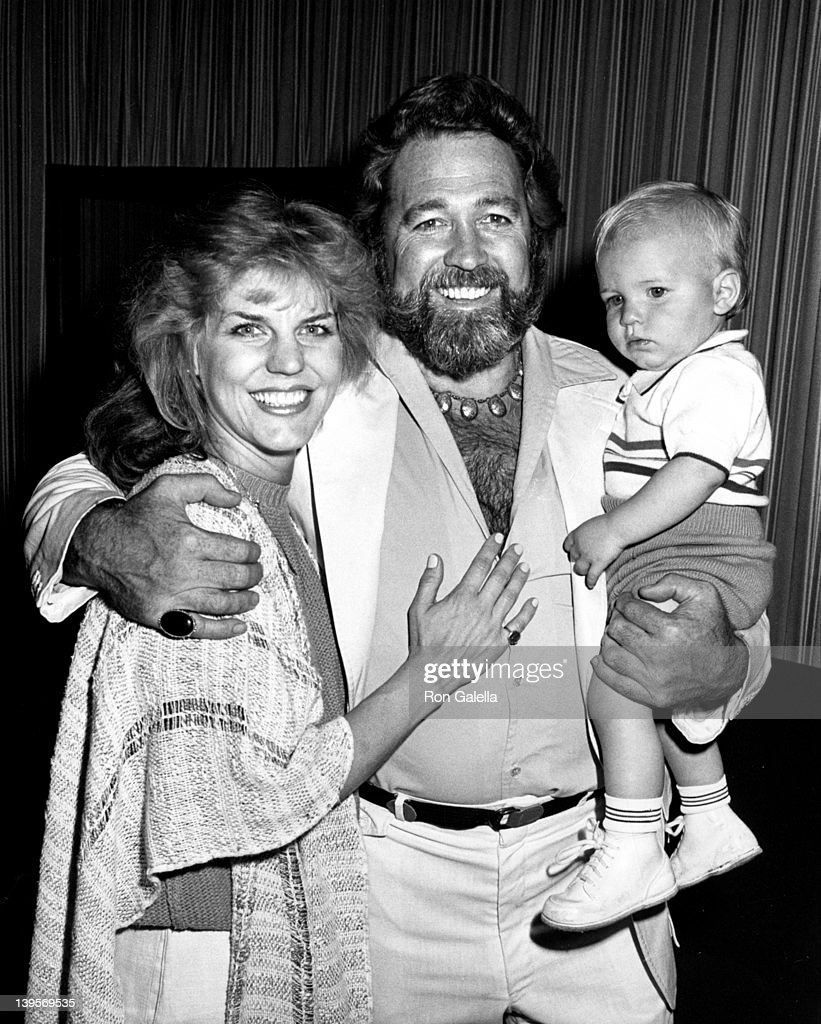 Actor Dan Haggerty, wife Samantha Haggerty and son Dylan Haggerty sighted on March 21, 1985 at the Beverly Hills Hotel in Beverly Hills, California.