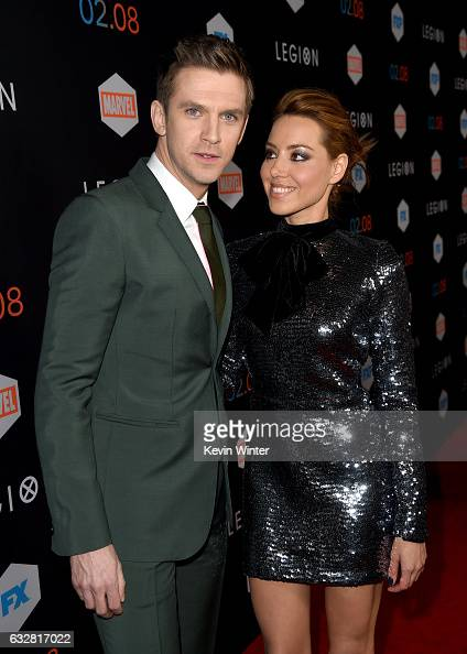 Actor Dan Stevens and actress Aubrey Plaza arrive at the premiere of FX's 'Legion' at the Pacific Design Center on January 26 2017 in West Hollywood...