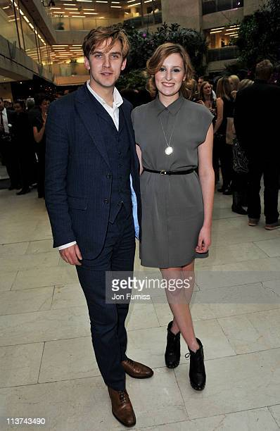 Actor Dan Stevens and actress Laura Carmichael attend the nominees party for 'The Philips British Academy Television and British Academy Television...