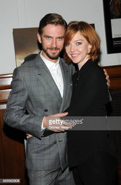 Actor Dan Stevens and his wife Susie Stevens attend 'The Guest' special screening at BAM on September 16 2014 in the Brooklyn borough of New York City