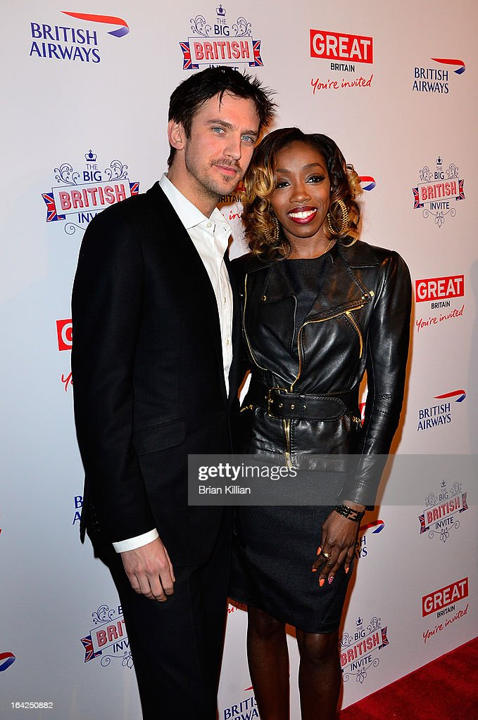 Actor Dan Stevens and singer Estelle attend The Big British Invite launch at 78 Mercer Street on March 21 2013 in New York City