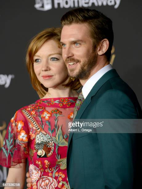 Actor Dan Stevens and Susie Stevens arrive for the Premiere Of Disney's 'Beauty And The Beast' held at El Capitan Theatre on March 2 2017 in Los...