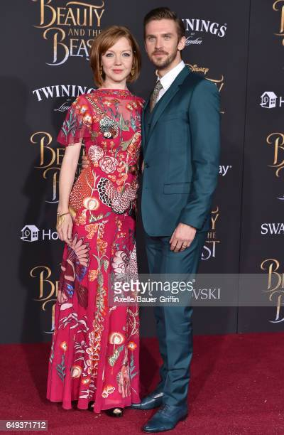 Actor Dan Stevens and wife Susie Stevens arrive at the Los Angeles Premiere of 'Beauty and the Beast' at El Capitan Theatre on March 2 2017 in Los...