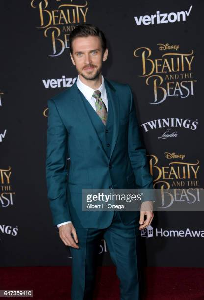 Actor Dan Stevens arrives for the Premiere Of Disney's 'Beauty And The Beast' held at El Capitan Theatre on March 2 2017 in Los Angeles California
