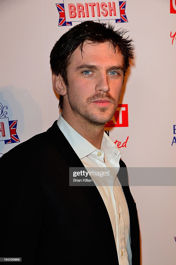 Actor <a gi-track='captionPersonalityLinkClicked' href=/galleries/search?phrase=Dan+Stevens&family=editorial&specificpeople=678756 ng-click='$event.stopPropagation()'>Dan Stevens</a> attends The Big British Invite launch at 78 Mercer Street on March 21, 2013 in New York City.