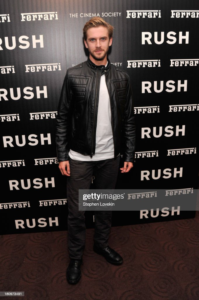 Actor <a gi-track='captionPersonalityLinkClicked' href=/galleries/search?phrase=Dan+Stevens&family=editorial&specificpeople=678756 ng-click='$event.stopPropagation()'>Dan Stevens</a> attends the Ferrari and The Cinema Society Screening of 'Rush' at Chelsea Clearview Cinemas on September 18, 2013 in New York City.