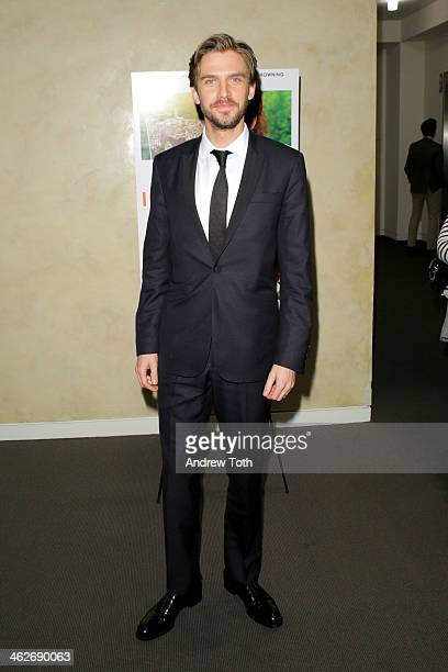 Actor Dan Stevens attends the 'Summer In February' premiere at Sotheby's on January 14 2014 in New York City