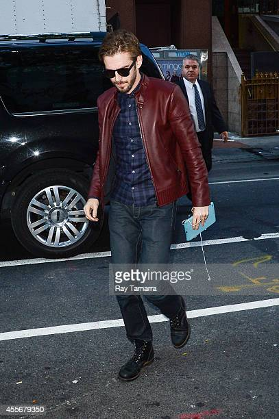 Actor Dan Stevens enters the 'Today Show' taping at the NBC Rockefeller Center Studios on September 18 2014 in New York City