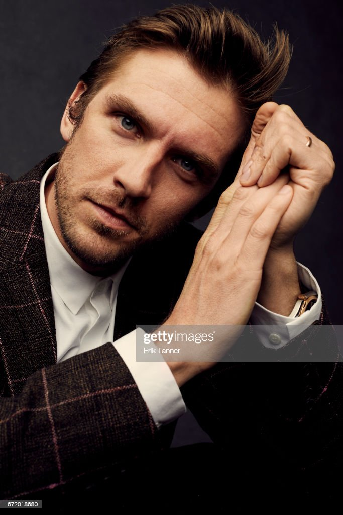 Actor Dan Stevens from 'Permission' pose at the 2017 Tribeca Film Festival portrait studio on April 22, 2017 in New York City.