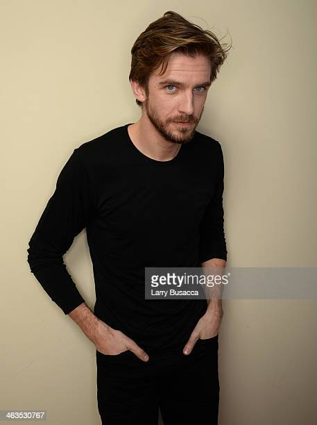 Actor Dan Stevens poses for a portrait during the 2014 Sundance Film Festival at the Getty Images Portrait Studio at the Village At The Lift...