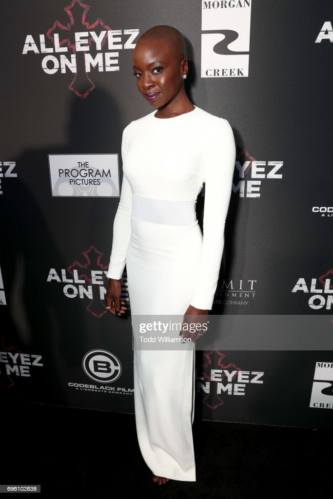 Actor Danai Gurira at the 'ALL EYEZ ON ME' Premiere at Westwood Village Theatre on June 14, 2017 in Westwood, California.