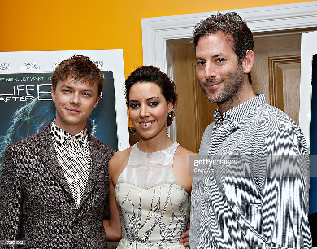 Actor <a gi-track='captionPersonalityLinkClicked' href=/galleries/search?phrase=Dane+DeHaan&family=editorial&specificpeople=6890481 ng-click='$event.stopPropagation()'>Dane DeHaan</a>, actress <a gi-track='captionPersonalityLinkClicked' href=/galleries/search?phrase=Aubrey+Plaza&family=editorial&specificpeople=5299268 ng-click='$event.stopPropagation()'>Aubrey Plaza</a> and writer/director Jeff Baena attend the 'Life After Beth' New York Screening at Crosby Street Hotel on July 30, 2014 in New York City.