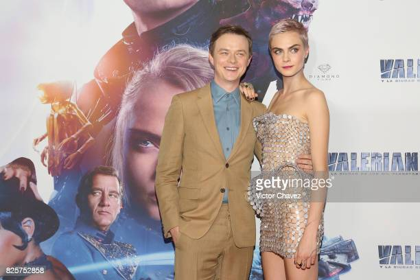 Actor Dane DeHaan and actress Cara Delevingne attend the 'Valerian And The City Of A Thousand Planets' Mexico City premiere at Parque Toreo on August...