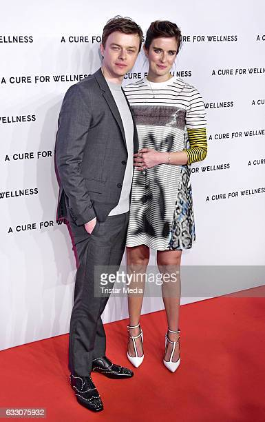 US actor Dane DeHaan and US actress Anna Wood attend the 'A Cure for Wellness' Premiere on January 29 2017 in Berlin Germany