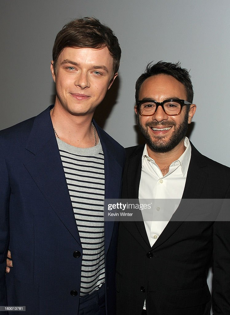 Actor <a gi-track='captionPersonalityLinkClicked' href=/galleries/search?phrase=Dane+DeHaan&family=editorial&specificpeople=6890481 ng-click='$event.stopPropagation()'>Dane DeHaan</a> and Writer/director <a gi-track='captionPersonalityLinkClicked' href=/galleries/search?phrase=John+Krokidas&family=editorial&specificpeople=10125419 ng-click='$event.stopPropagation()'>John Krokidas</a> attend the premiere of Sony Pictures Classics' 'Kill Your Darlings' at Writers Guild Theater on October 3, 2013 in Beverly Hills, California.